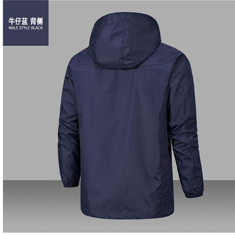 Мужская демисезонная куртка, плотная ветрозащитная однослойная куртка с принтом