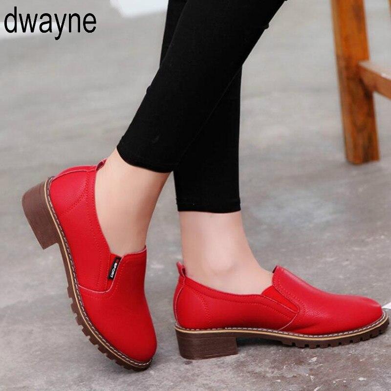 Dedo do pé Nova Moda Feminina Sapatos Planos Redondo Rendas-up Oxford Mulher Brogue Casuais M89