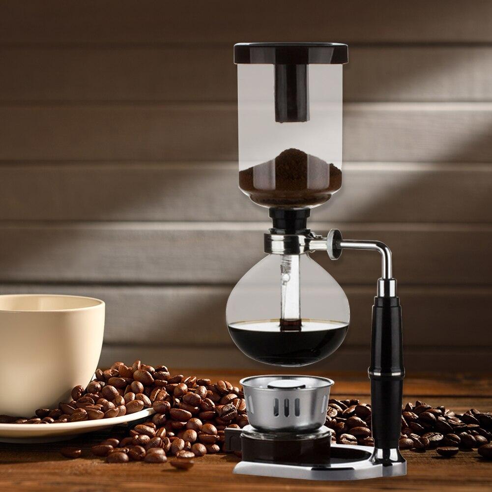 Classical Siphon Coffee Machine Glass Pot Plastic Home DIY Homemade Filter Manual...