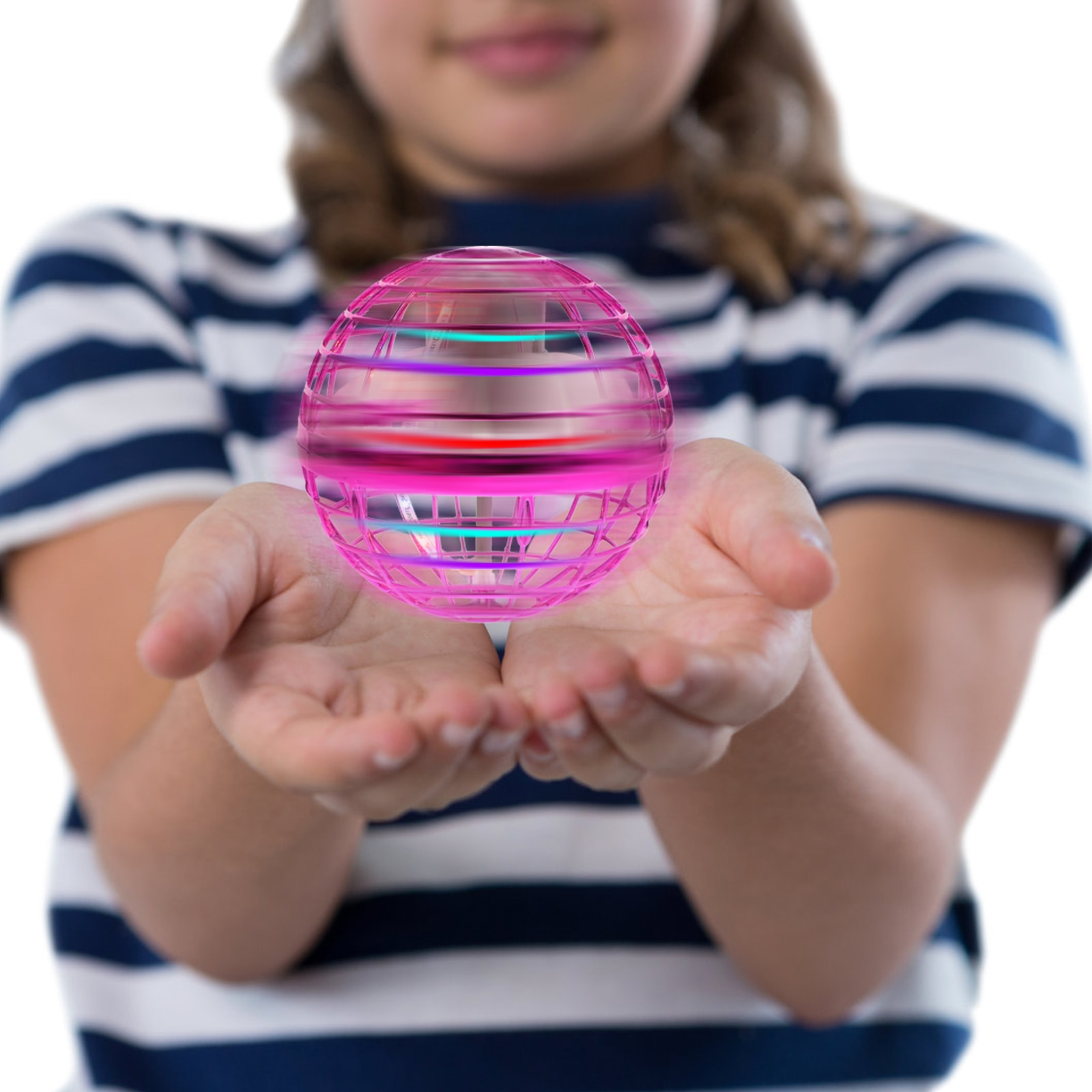 1Pc Funny Gyrator Flying Spinner 360° Rotating Fly Ball with Colorful RGB Light Hand Gesture Control Gift Toys for Kid Adult