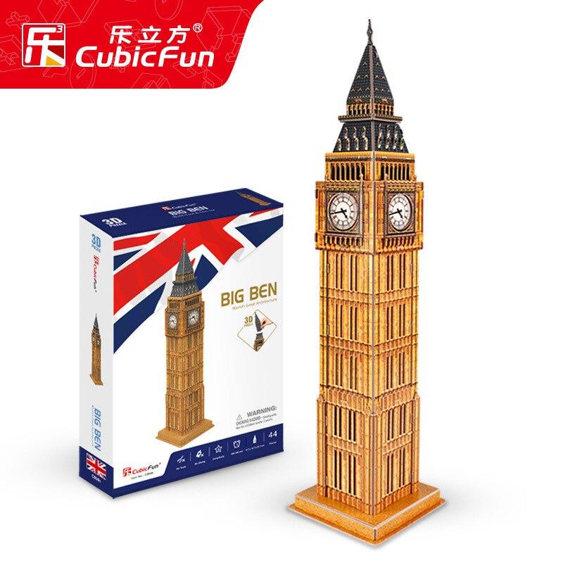 Cubicfun rompecabezas 3D Londres el reloj Big Ben juguete para niños DIY recursos para producir 3-6 años de edad modelo de papel del 7-Ye