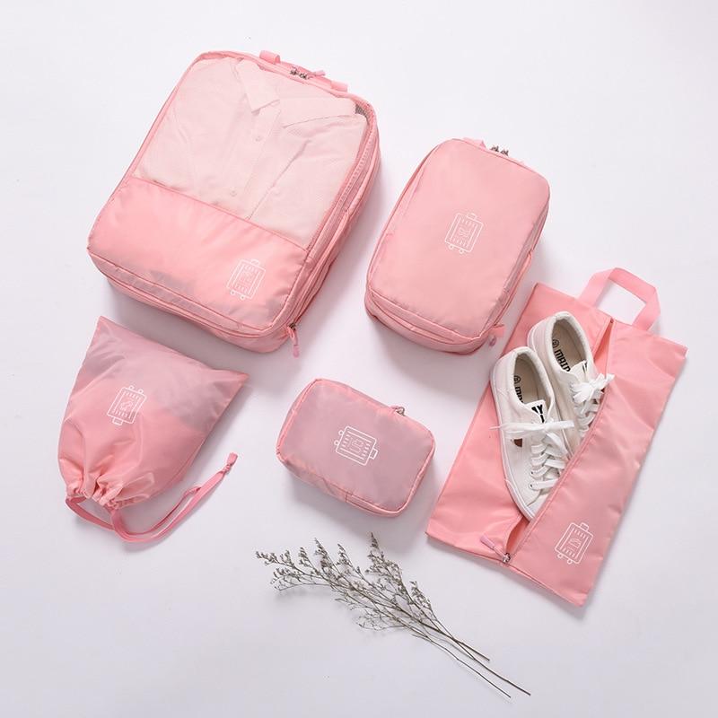 Дорожный органайзер, сумки для хранения, набор чемоданов, водонепроницаемые чехлы для хранения, органайзер для одежды, обуви, 5 шт./компл.