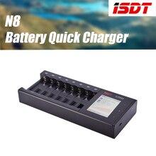 ISDT N8 8 Slots AAA AA Batterie Ladegeräte LCD Display Smart batterie Schnell Ladegerät Li-Ion Lebensdauer Ni-Mh Ni-Cd C SC 18650