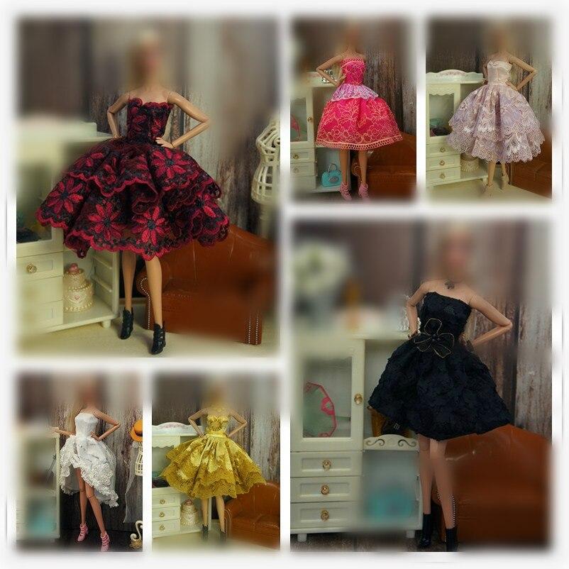 Conjunto Multicolor de moda para Barbie, Vestido de punto de ondas, camisa,...