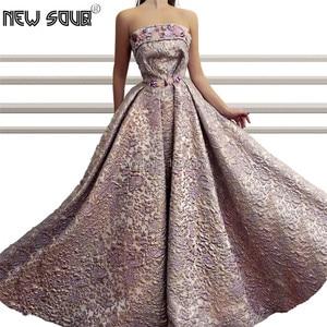 Strapless Saudi Arabic Evening Dresses Elegant 2019 New Dubai African Party Gowns Custom Made Muslim Prom Dress Abendkelider
