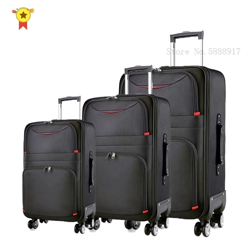 """20""""24""""28"""" inch a set high quality waterproof Oxford Rolling Luggage Spinner men Business Brand Suitcase Wheels Cabin Trolley"""