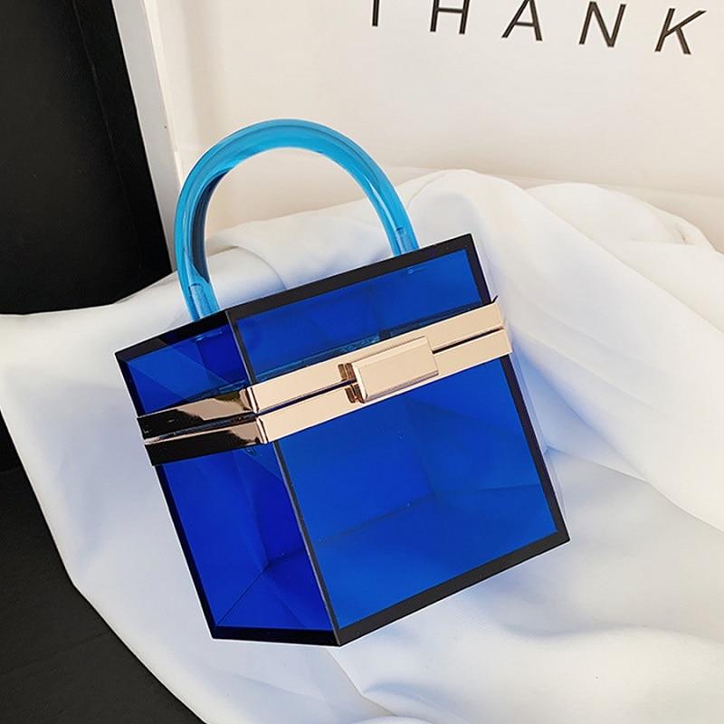 Fashion Clear Acrylic Women's Handbag Designer Transparent Clutch Evening Party Bags For Women 2020 Female Women's Bag Purses