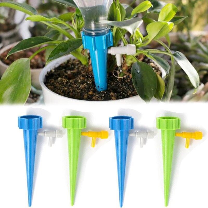 Riego por cono, sistema práctico de jardín, riego por gotero de botella, riego automático, pico de goteo para planta, flores, agua floja