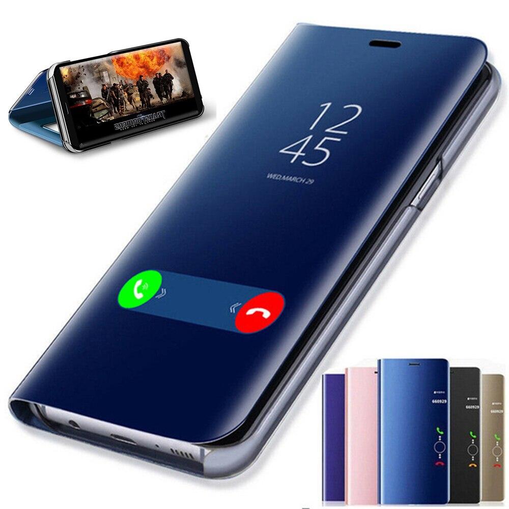 Зеркальный флип-чехол для Huawei P30 Lite P20 Pro Mate 20 10 Lite Y6 Y5 Y7 P Smart 2019, чехол для Honor 20 8X 8A 10 9 lite 7A 9X