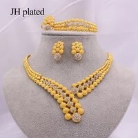 ethiopia 24k gold jewelry sets for women jewellery african wedding bridal gifts bridal party bracelet necklace earrings ring set