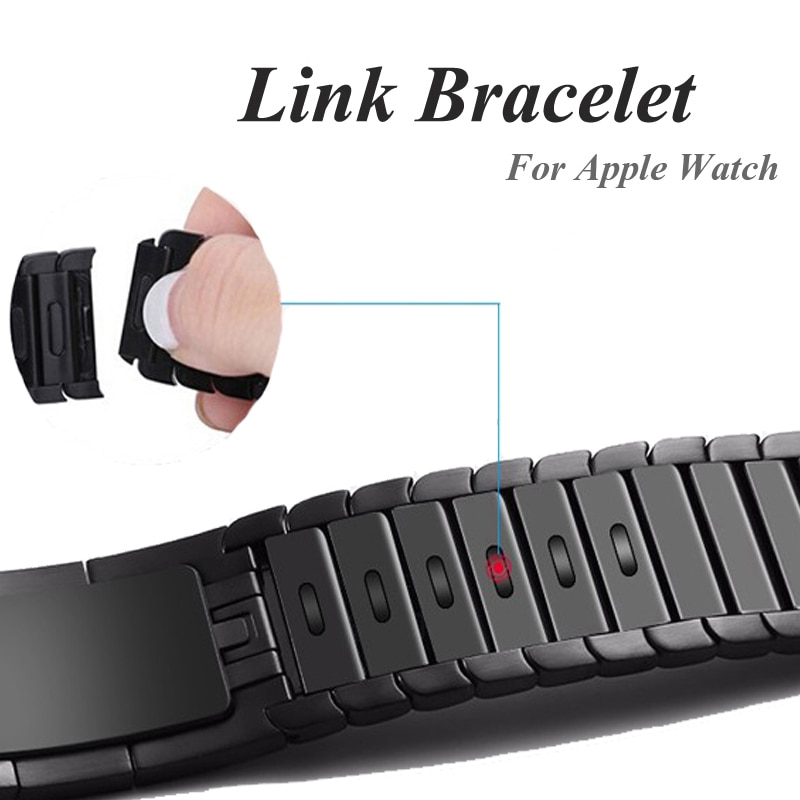 Correa de eslabones para Apple Watch, 44mm, 40mm, correa de reloj iwatch, 42mm, 38mm, acero inoxidable gen.6, correa de reloj para Apple watch 4 5