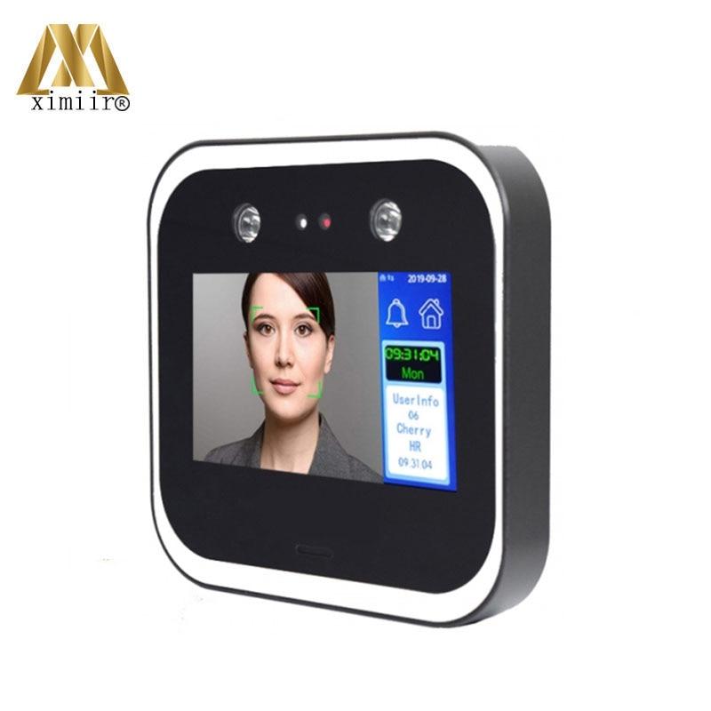5 بوصة تعمل باللمس التعرف على الوجه بطاقة محطة وقت الحضور DF05N مع 125Khz قارئ بطاقة الهوية البرمجيات الحرة