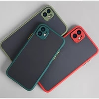 matte translucent phone case for iphone 12 11 pro x xs max xr se2 2020 6 7 8 plus camera protection bumper shockproof back cover
