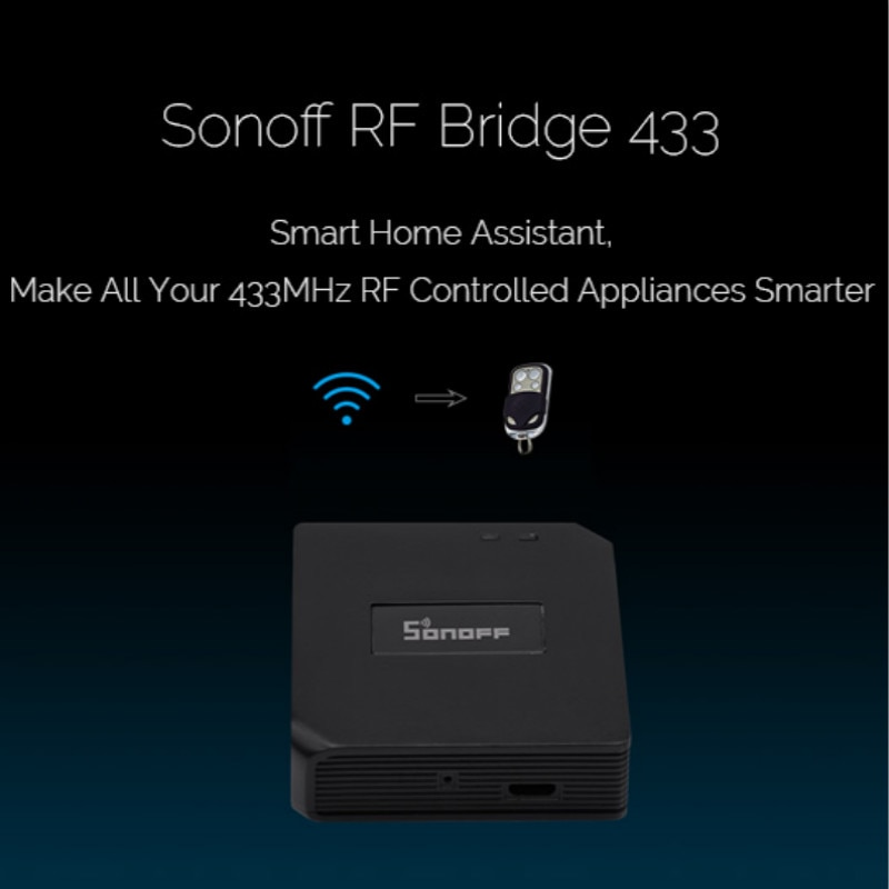 Wireless Remote Control Switch SONOFF RF Bridge Wifi 433Mhz Smart Home Automation Module Work With Alexa Google Home