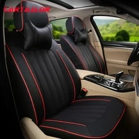 cartailor cover cars seat cowhide artificial leather styling for mitsubishi outlander car seat covers for car seats 5 7 set