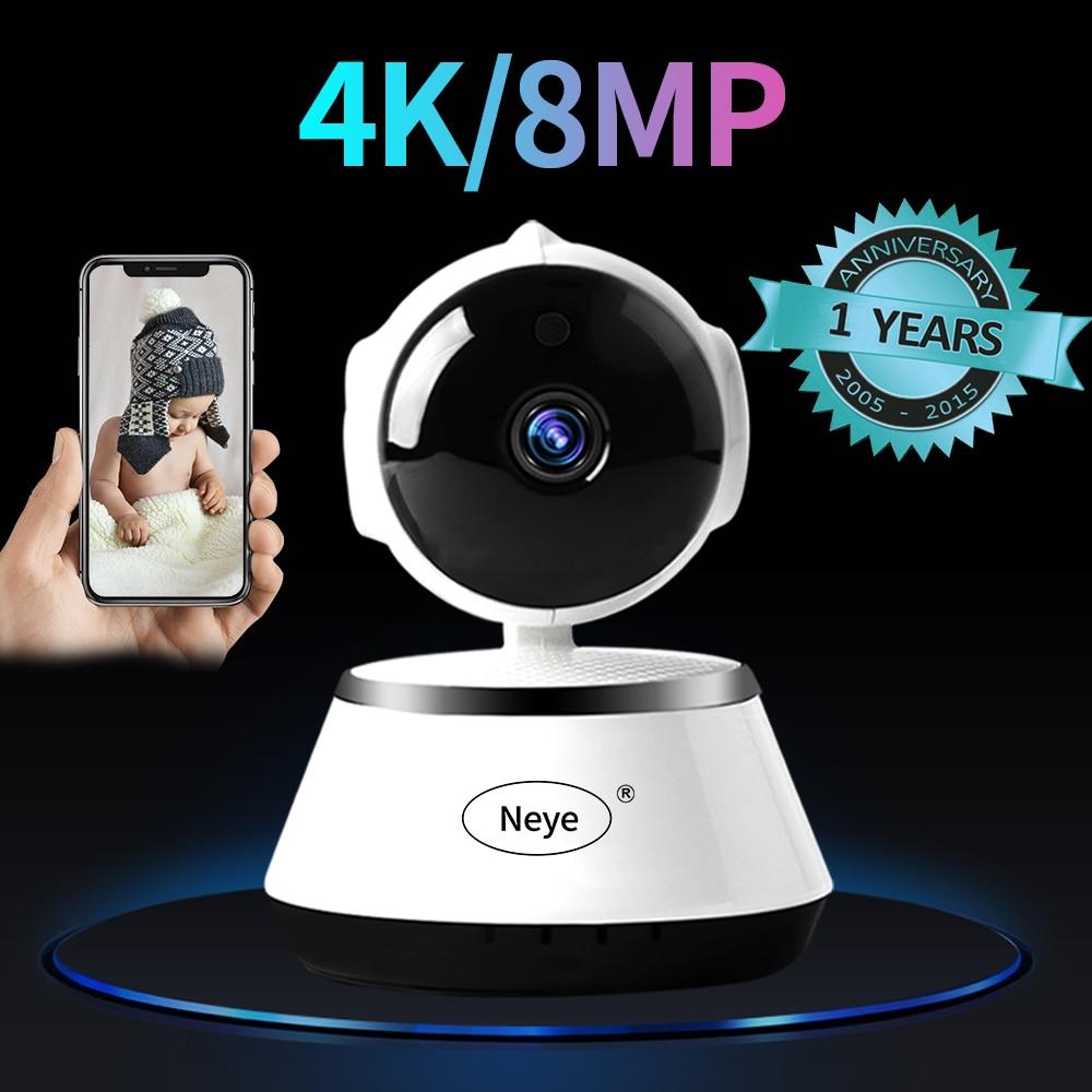 N_eye-كاميرا داخلية ذكية مع رؤية ليلية ، 8 ميجابكسل ، 4k ، HD ، 360 درجة ، بانورامية ، مراقبة الطفل ، IP ، WIFI