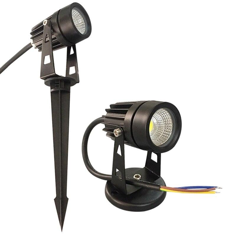 Новый стиль COB садовый светильник для газона 220 В 110 в 12 В наружный светодиодный светильник-шип 3W 5 Вт дорожка Ландшафтный водонепроницаемый точечный светильник