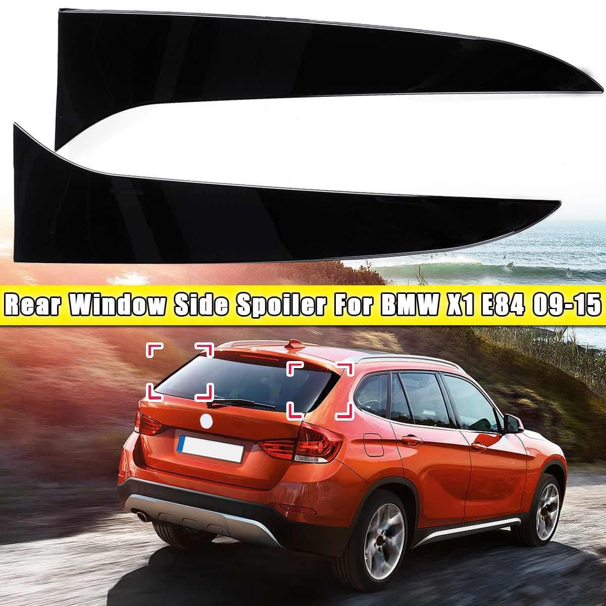 1 Pair gloss black Rear Window Side Spoiler Air Splitter For BMW X1 E84 2009 2010 2011 2012 2013 2014 2015 Spoilers Car styling