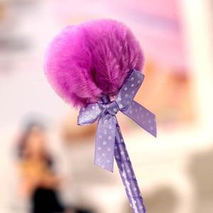 10 Pcs Colored Hair Ball Ballpoint Pen Cute Writing Pen School Office Supplies UY8