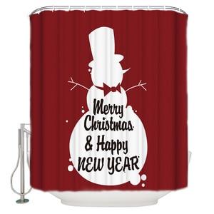 Merry Christmas to The Lovely Snowman  Shower Curtain Merry Christma Bathroom Curtain Home Decoration