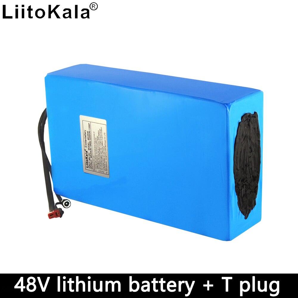 Batería de Liitokala 48v25ah batería de bicicleta eléctrica de gran capacidad 1000w construido en 50A bms