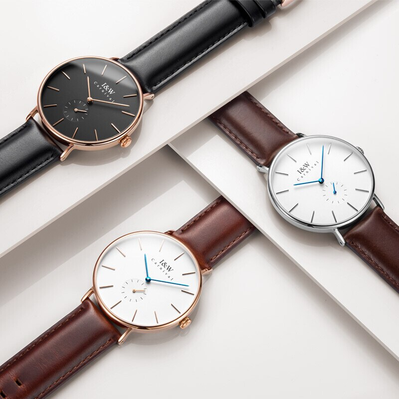 CARNIVAL Luxury Brand Rose Gold Watch Women Fashion Waterproof Ultra Thin Quartz Wristwatches Ladies Clock 2021 Relogio Feminino enlarge