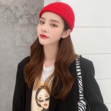 Solid Unisex Beanies Autumn Winter Wool Blends Soft Warm Knitted Caps Men Women SkullCap Hip Hop Hat
