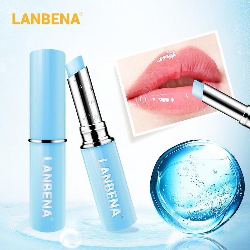 Hyaluronic Acid Long Lasting Nourishing Lip Balm Moisturizing Reduce Fine Lines Relieve Dryness Repair Damaged Lip Care LANBENA недорого