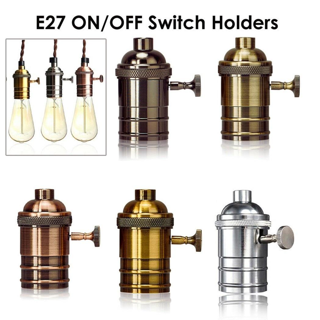 Винтажный промышленный светильник E27, держатель лампы, основа винтовой лампы, Промышленные Ретро фитинги, держатель лампы, крепление