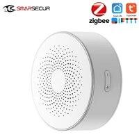 SMARSECUR     sirene de securite intelligente Zigbee Tuya  sans fil  stroboscope  pour la maison