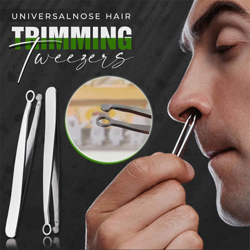 Nose Hair Trimming Tweezers Multifunction Nose Hair Removal Tweezers Round-tipped Nose Hair Clipper