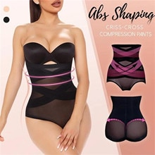 Fishon Women Shapers Beauty Slim Cross Cover Cellulite Fork Compression Abs Shaping Pants Женск