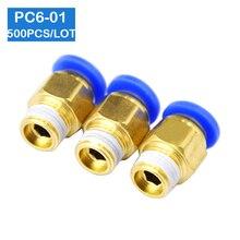 BSPT 500 pièces de livraison gratuite   Connecteurs pneumatiques de 6mm à 1/8