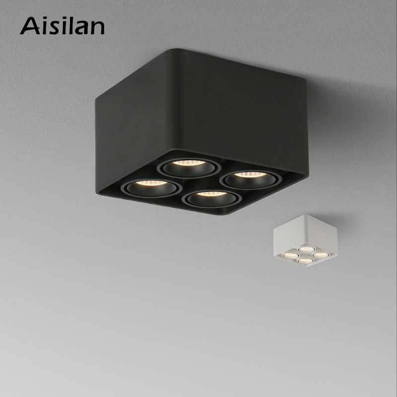 Aisilan الراقية أضواء السقف رقيقة جدا أسفل ضوء مكافحة وهج الحديثة بقعة ضوء سطح ضوء غرفة نوم غرفة المعيشة أضواء