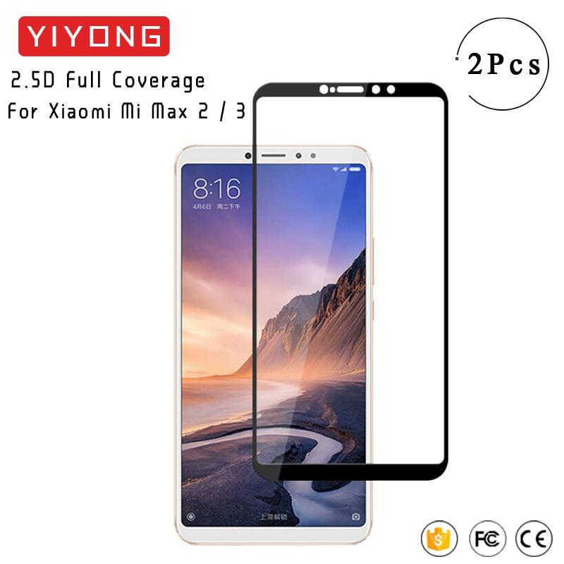 Cristal Protector de pantalla completa YIYONG para Xiaomi mi Max 2 3 cristal templado Xio mi Max2 Max3 Protector de pantalla para Xiaomi Max 3 2 vidrio