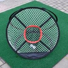Tragbare Faltbare Golf Chipping Net Außen Pitching Käfige Matten Indoor Faltbare Golfen Ziel Für Praxis Training Aids