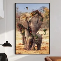 abstract mother and child elephant art posters and prints canvas paintings wall art pictures for living room decor cuadros