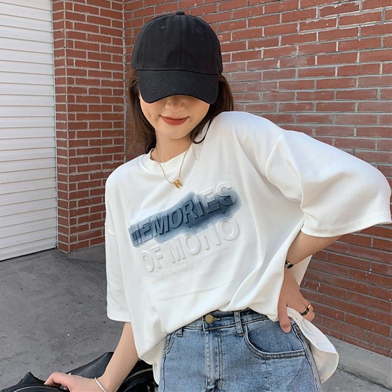 Camiseta de manga corta blanca para mujer, ropa interior de verano, ropa...