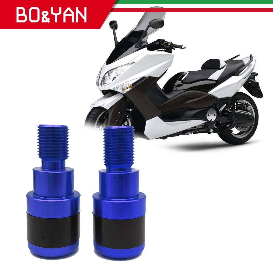 "Para Yamaha TMAX530 TMAX 530SX 530DX 500 MT 07 MT09 7/8 ""22MM manillar Universal para motocicleta extremos barra tapones deslizadores"