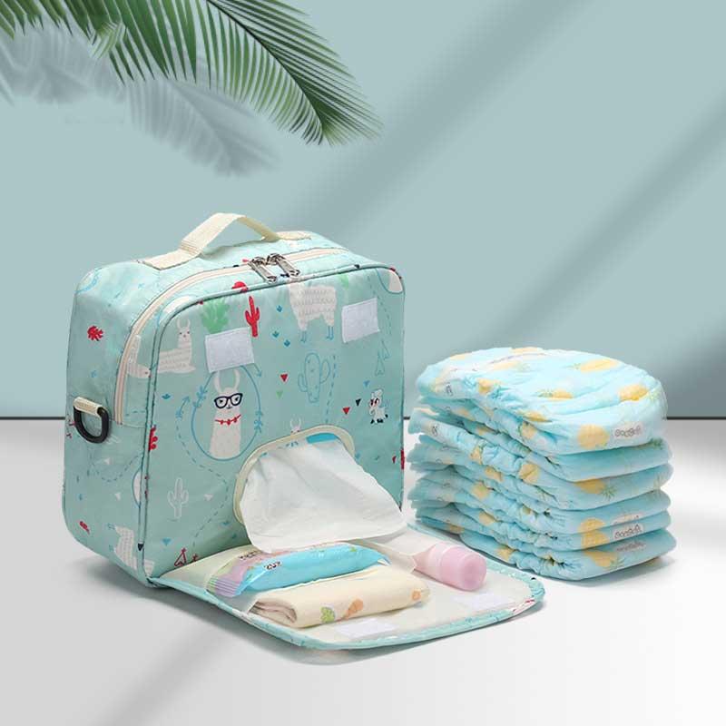 Infant Nappy Storage Bin Baby Diaper Organizer Reusable Wipes Bag Caddy Basket Wet/Dry Bag Mummy Sto