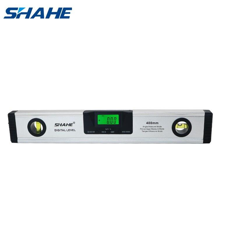 Shahe 400mm magnético digital transferidor ângulo finder inclinômetro nível eletrônico 360 graus liga de alumínio bolha espírito nível