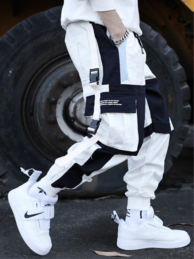 Брюки-карго мужские с множеством карманов, уличная одежда, шаровары в стиле хип-хоп, повседневные спортивные штаны, джоггеры, модные штаны