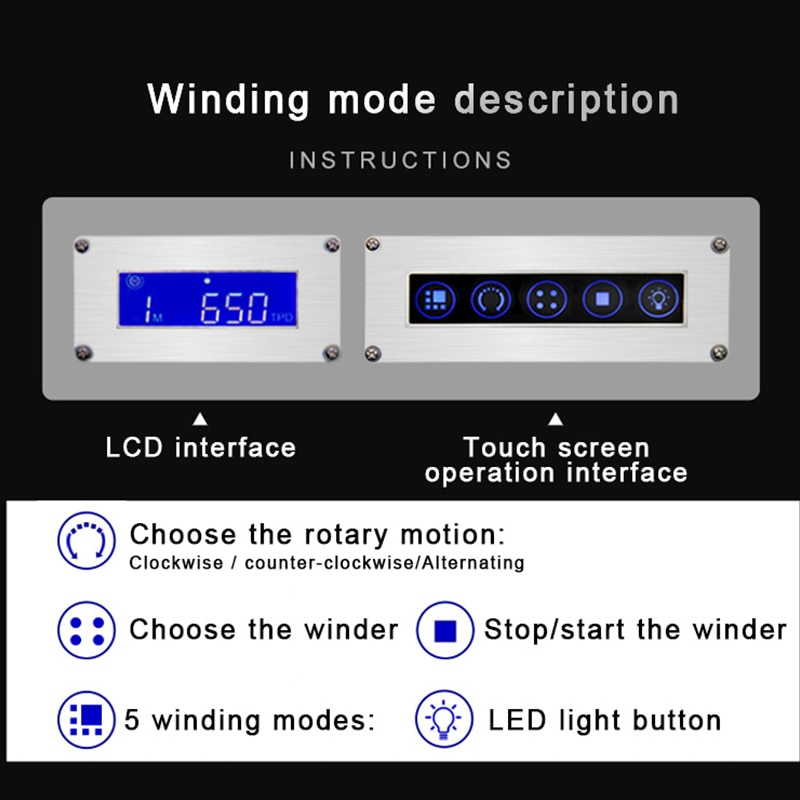 Automatic Watch Winder Safe Box 6 Slot Watch Winding Box Quiet Motor Storage Display Case Mechanical Watches Jewelry Box enlarge