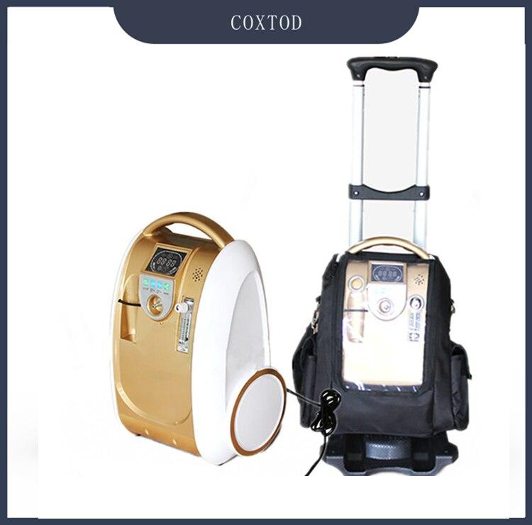 Coxtod 24 horas contínuo portátil gerador de oxigênio concentrador bateria/viagem/uso doméstico máquina oxigênio