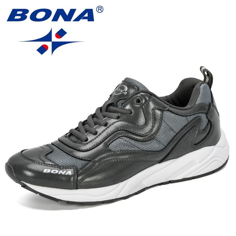 BONA 2019 New Designer Fashion Sneaker Men Outdoor Running Shoes Man  Sports Men's Jogging Shoes Athletic Shoes Trendy Footwear