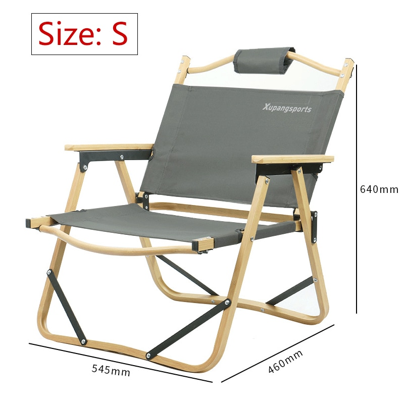 2PCS Nature Folding Hike Camping Outdoor Fishing Chair Natural Wood Lightweight Camping Chairs For Garden Party&BBQ Camp Seat enlarge