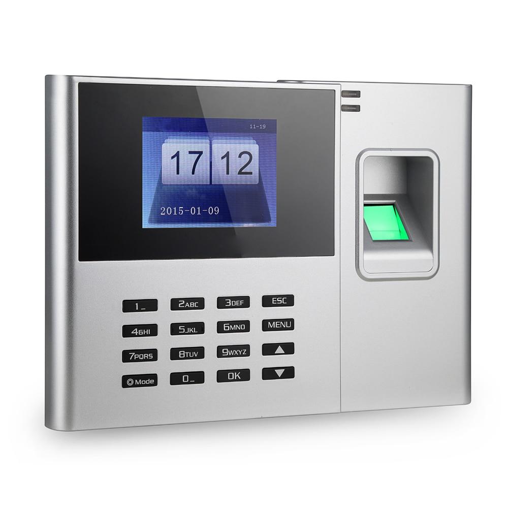 جهاز تسجيل بصمات الأصابع البيومترية ، جهاز تسجيل الحضور ، شاشة TFT LCD مقاس 2.8 بوصة ، تيار مستمر 5 فولت