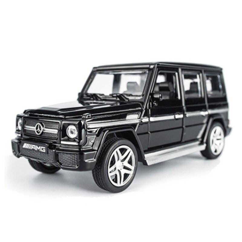 KIDAMI сплав литье под давлением модель автомобиля G65 SUV 1:32 для детей мальчик металлические игрушки колеса спортивный автомобиль оттягивает назад мигающий дети подарки на день рождения