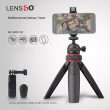 LENSGO Mini trépied Portable multifonctionnel Selfie bâton Portable Micro reflex appareil Photo téléphone Portable bureau en direct Vlog support