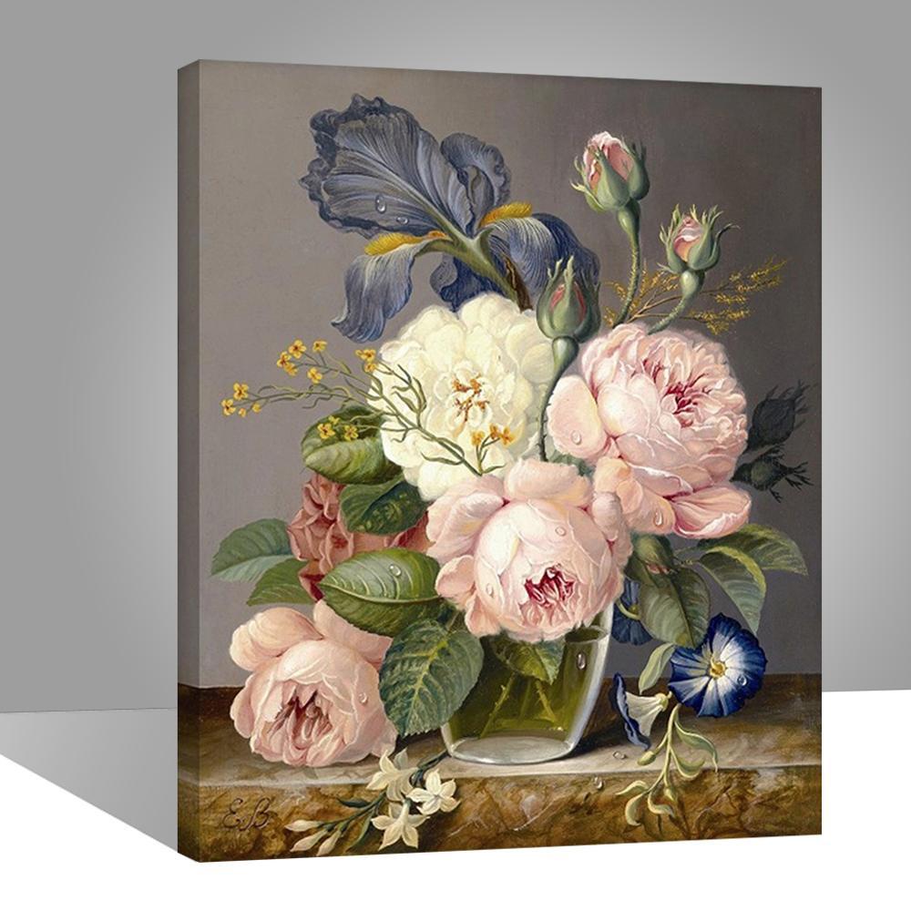RIHE роза цветы живопись по номерам, настенные художественные картины для гостиной, холст настенные картины, рисование по номерам 40x50CM